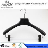 Ashtree Wooden Clothes Hanger With Gun Black Clips 40 * 4.0cm