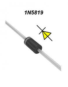 China Generator Schottky Barrier Rectifier Diode 40V 1A Hot Carrier Diode With DO-41 Case supplier