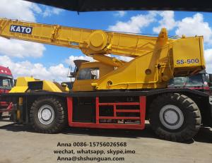 China KATO SS500 Used Rough Terrain Crane 8 Cylinders 5 Levels Transmission on sale