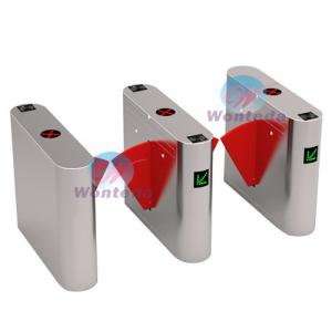 China Automatic Access Control Flap Barrier Gate Retractable Anti-pinch Pedestrian Entrance Gate on sale