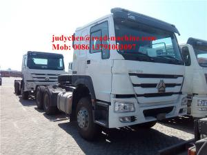 China White Trailer Head 40t Prime Mover 6x4 Tractor Truck Euro 2 12.00R20 Tyre on sale
