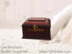 China Rich Cherry Wooden Traditional Pet Funeral Cremation Ashes Urn Casket Box on sale