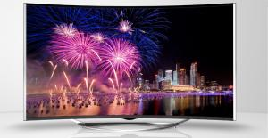 China Backlight Curved Screen TV  , 4K Curved UHD TV High Definition A Grade Panel on sale