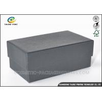 Cheap Customized Black Cardboard Gift Boxes For Shoes / Clothes