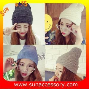 China AK17017 Sun Accessory promotion cheap knitted beanie hats for girls ,caps in stock MOQ only 3 pcs on sale