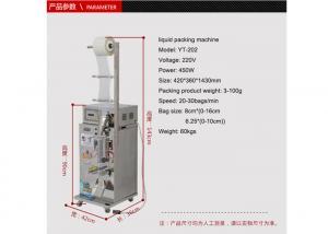 China Sauce / Honey Liquid Packing Machine Liquid Filling Equipment 0.35KW Energy Saving on sale