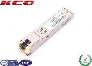 China RJ45 Copper SFP Fiber Optic Transceiver 1.25G 1000BASE-T For CAT6 CAT7 on sale