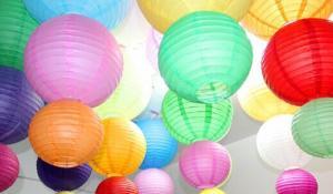 China LED Paper lantern,White Lantern Wholesale, Spot Handmade Paper Lanterns, Custom Cartoon Lanterns, Paper Crafts Paper Lan on sale