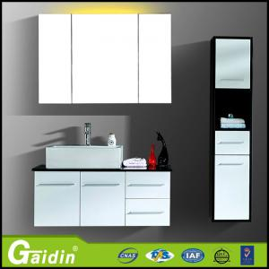 China aluminum alloy high quality make in China new design modern bathroom cabinet with mirror and LED light on sale