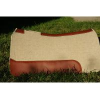 Horse equipment 1 inch thick pressed contoured western wool felt saddle pad for horses