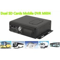 H.264 Dual SD Cards 3G WIFI Car 4 channel Mobile DVR With GPS Tracking