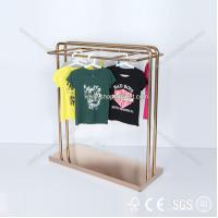 2014 new design custom metal wall garment display rack for clothing retail store