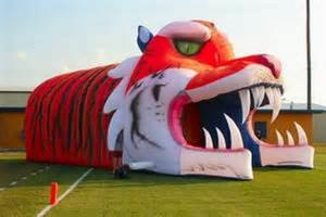 China Giant Inflatable Tiger Tunnel, Infaltable Tunnel For Outdoor Advertising on sale