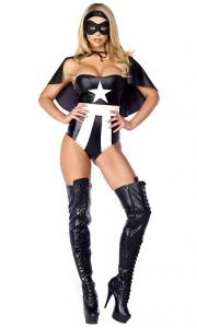 China Mick Satin Fascinating Force Sexy Superhero Costume with Size S to XXL Available on sale