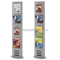 Book Retail Store Flooring Display Stands Metal Newspaper Map Book Display Rack