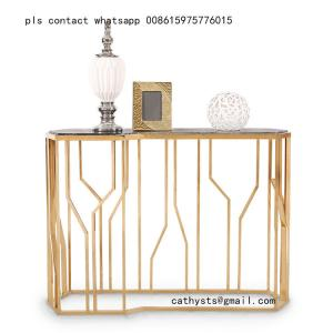 China Customized Hairline Gold stainless steel table chair for restaurant metal furniture on sale