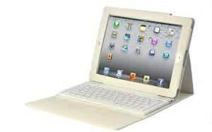 China Personal ivory-white portable Designed  for apple ipad 3 bluetooth keyboard case on sale