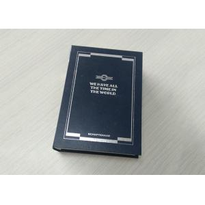 Printing Paperboard Book Shaped Box With Inner Tray Custom Logo OEM Service