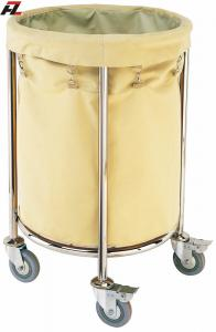 China Hotel Stainless Steel Rolling Linen Trolley-Laundry Trolleys on sale