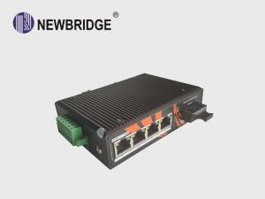 China Anti Static 4 Port Industrial Ethernet Switch 10/100M With 1 SC Fiber Port 24V on sale