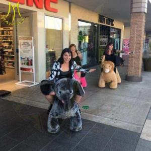 China Hansel amusement park motorized animal baby toy ride on walking animals on sale