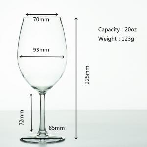 China Plastic Wine Cup  Tritan Glass Crystal Goblet Wine Glass Unbreakalbe Stem Glass 20oz for party on sale
