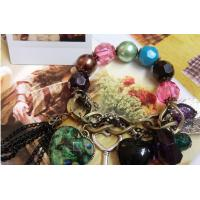 Fashion Jewelry Alloy Charm gemstone Semi-Precious Stone Bracelet SP049