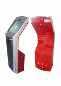 China Custom Cardboard Book Display Stand With Brilliant High Resolution Touchscreen kiosk on sale