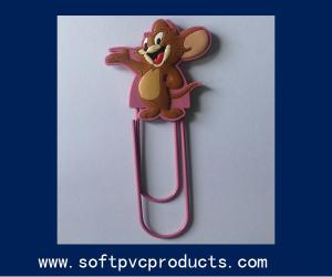 China Personalized Style Cute Animal Shape Soft PVC Paper Clip for Commercial Promotional Gifts on sale