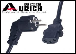 China Small Appliance Power Cord Replacements , Germany Type 2 Prong Appliance Cord on sale