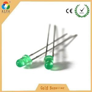 China LED light high green color 3mm round with side emitting led diode on sale