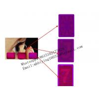 China Red paper marked cards/poker cheat/cards cheat/magic cards/invisible ink/luminous marked cards/contact lenses on sale