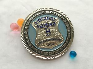 China Hot sale Creative Silver Plating Fashion high quality Metal Police Challenge Coin/souvenir coin on sale
