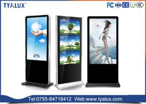 China FHD large touch screen Stand Alone Digital Signage kiosk on wheels , ad lcd media display on sale