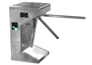 China Waist Height Full Automatic Security Turnstile Gate Barrier For Access Control System on sale