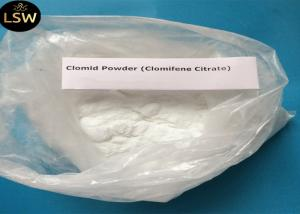 China 99% Purity Natural Anti Estrogen Supplements Clomifene Citrate / Clomid CAS 50-41-9 on sale