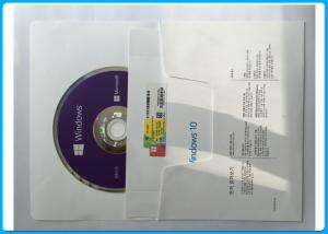 Quality Windows 10 professional 64 bit DVD + OEM Coa Key License Mutilanugage Language for sale