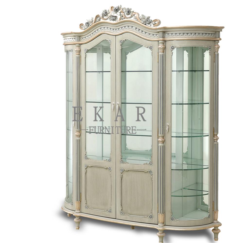 Luxury Home Furniture Livingroom Glass Cabinet Single Door ...