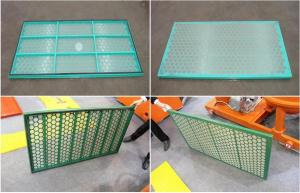 China Durable Custom Shale Shaker Screen Carbon Steel Frame High Strength on sale
