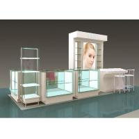 Flooring Type Beauty Product Display Stand  Cosmetic Display Showcase With Glass Shelf