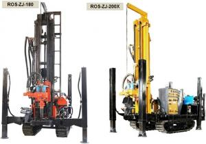 China Multifunctional Rotary Water Well Drilling Rig Machine With Crawler Pneumatic supplier