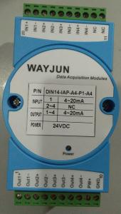 China 4-20ma to 4-20ma current isolation splitter WAYJUN 3000VDC  one in two out signal transmitter green DIN35 CE approved on sale