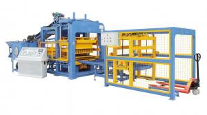 China Full Automatic Concrete Block Making Machine With PLC System Electricity Motor on sale