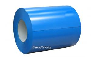 China Corrosion Resistant Blue Pre Painted Galvalume Sheet / Coil Width 700-1600MM on sale
