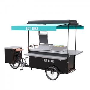 China Commercial Burger Food Vending Cart Equipped With High Standard Battery on sale
