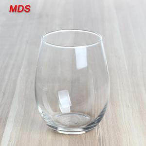 China Clear single layer OEM logo 580ml egg drinking juice glass on sale