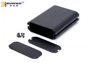 China 6063 T5 Extruded Aluminum Box Enclosure Case Black Painted / Anodizing on sale