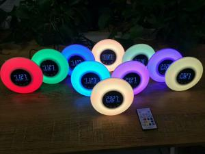 China Sleeping Dusting Night Light Alarm Clock Light Sunrise , Micro USB DC5V Light Based Alarm Clock on sale