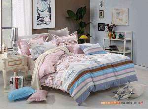 Quality Tencel Material King Size Home Bedding Sets Luxury Design Reactive Print for sale
