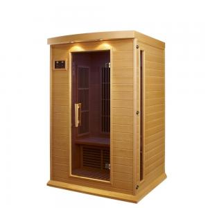 China Cedar Solid Wood Portable Sauna Room Intelligent Control With 2 People Capacity on sale